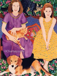 Penny's Children painting by Charlsey Cartwright